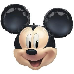 Микки Маус голова фольгированный шарик