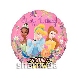 Принцессы с цветами МУЗ Happy birthday