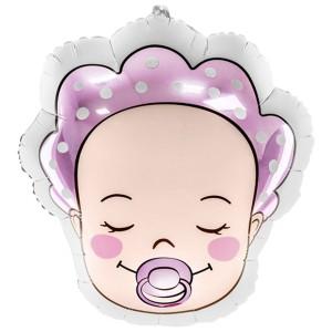 Младенец девочка фольгированный шарик