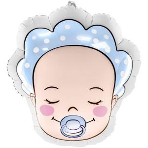 Младенец мальчик фольгированный шарик