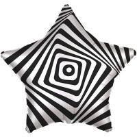 """Фольгированный шарик 18"""" Иллюзия черно-белая АГ"""
