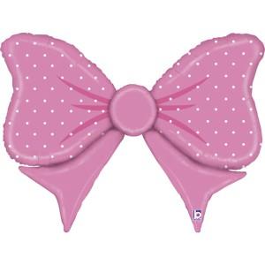 Бантик розовый фольгированный шарик