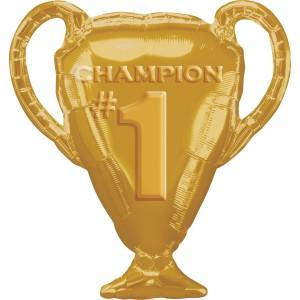 Фольгированный шарик Кубок чемпиона золотой