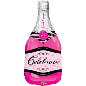 Фольгированный шарик Розовое шампанское