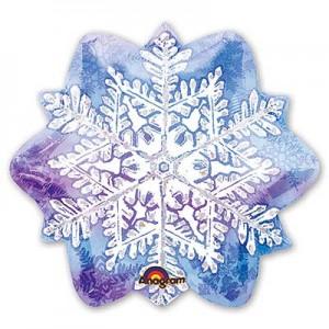 Фольгированный шарик Новый год Снежинка