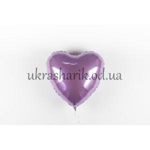 Фольгированное сердечко лавандовое