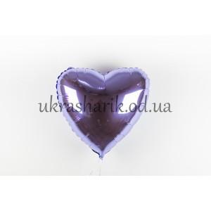 Фольгированное сердечко лиловое