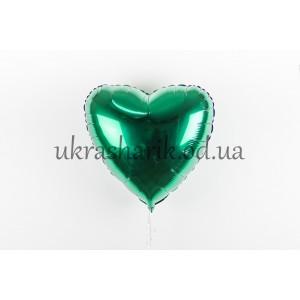 Фольгированное сердечко зеленого цвета