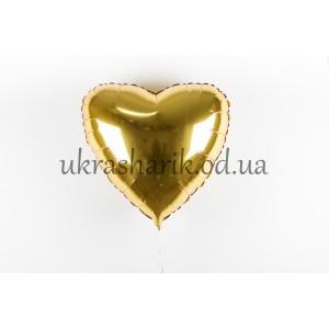 Фольгированное сердечко золотого цвета