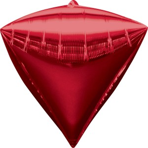 Фольгированный шарик Алмаз красный