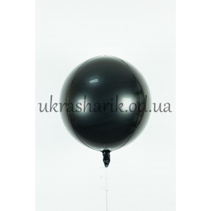 Фольгированный шарик Сфера черная