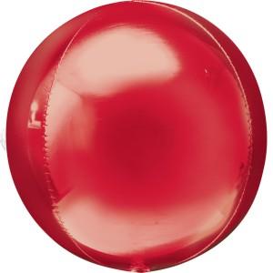 Фольгированный шарик Сфера красная