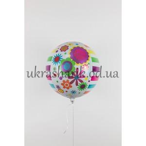 Фольгированный шарик Сфера Летний сад
