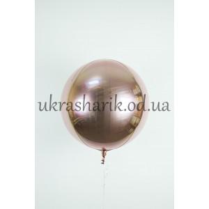 Фольгированный шарик Сфера розовое золото