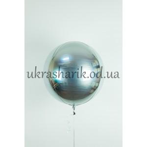Фольгированный шарик Сфера серебряная