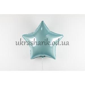 Фольгированная звезда голубая металлик