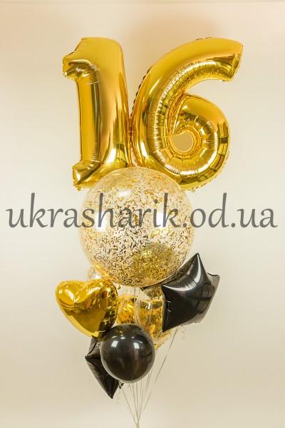 Букет шаров на день рождения №25
