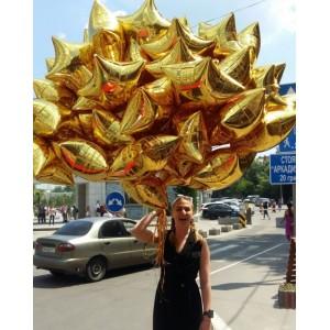 """Букет из шаров """"50 Золотых звезд"""""""