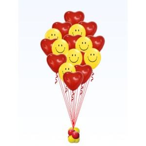 Шарики для любимых - Смайлы с сердцами