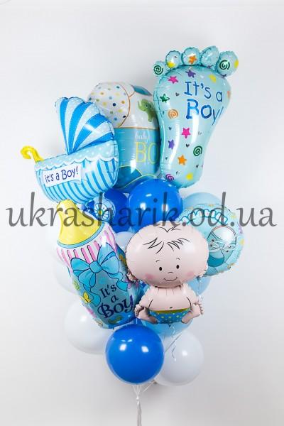Букет из шариков для встречи из роддома №12