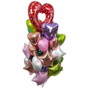 Букеты из шаров для влюбленных