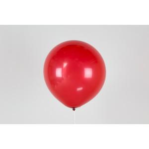"""Гелиевый шар красный 12"""" (30 см)"""