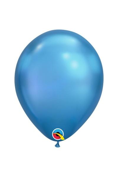 Гелиевый шар хром синий
