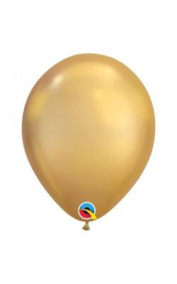 Гелиевый шар хром золотой