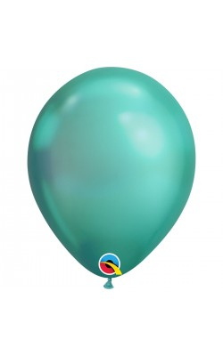 Гелиевый шар хром зеленый