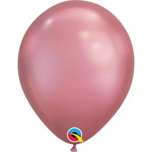 Гелиевый шар хром рорзовый