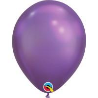 Гелиевый шар хром фиолетовый
