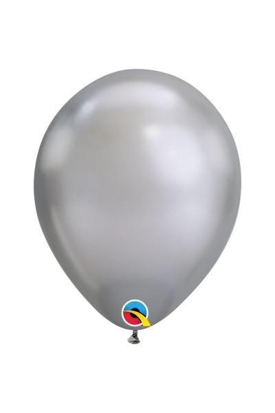 Гелиевый шар хром серебро