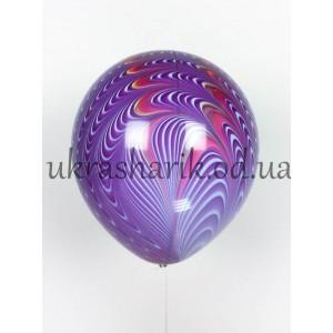 Шар павлин фиолетовый