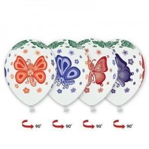 """Шар наполненный гелием с рисунком """"Бабочки"""""""