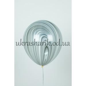 Мраморный шарик цвет черно-белый