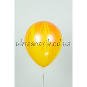 Мраморный шарик цвет желто-оранжевый