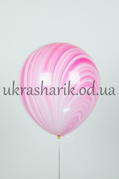 Мраморный шарик цвет красно-белый