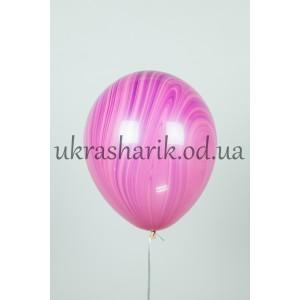 Мраморный шарик цвет малиново-розовый