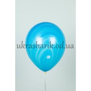 Мраморный шарик цвет сине-голубой