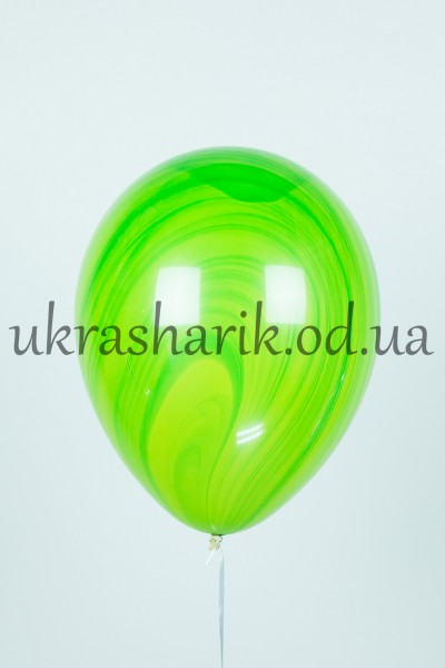 Мраморный шарик цвет зеленый